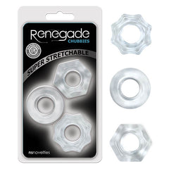 Renegade Chubbies - Clear Cock Rings - Set of 3