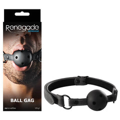 Renegade Bondage - Ball Gag - Black Mouth Restraint