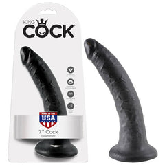 King Cock 7'' Cock - Black 17.8 cm (7'') Dong