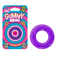 Rock Candy Gummy Ring - Purple Cock Rings - Set of 2