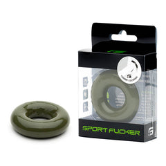 Sport Fucker Rubber Cockring - Army Green Cock Ring