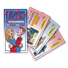 Love Vouchers for Him and Her - Set of 10 Vouchers