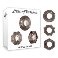 Zero Tolerance Triple Thick - Smoke Cock Rings - Set of 3