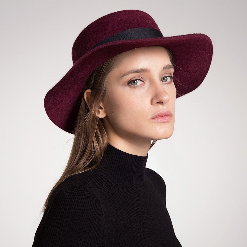 Gorgeous feather boater hats for women  unique high quality Australia wool  felt hat  Autumn 29f9ffe1ef9