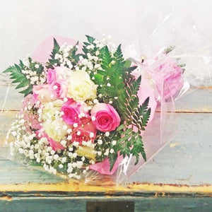 Hand Tied Bouquet - Sweet Affection (One dozen roses)