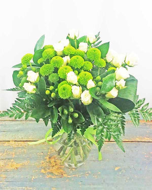 GREEN POM BOUQUET