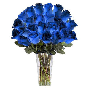 Two Dozen Blue Rose Bouquet