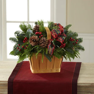 Bouquet - Christmas Coziness??Basket  J-B10-5139
