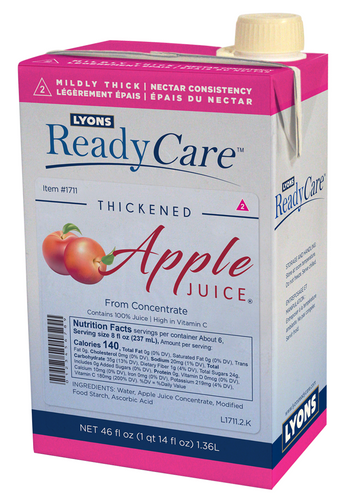 1711 Thickened Apple Juice  level 2 - mildly thick