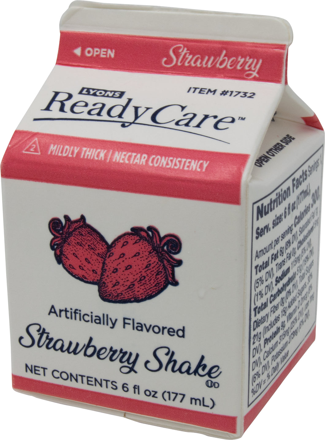 Strawberry Frozen Shake, Regular -  6 fl oz