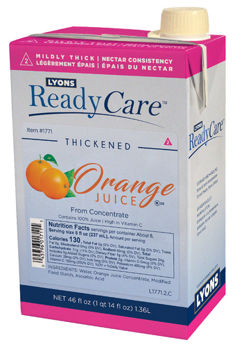 1771 Thickened Orange Juice IDDSI level 2 - mildly thick