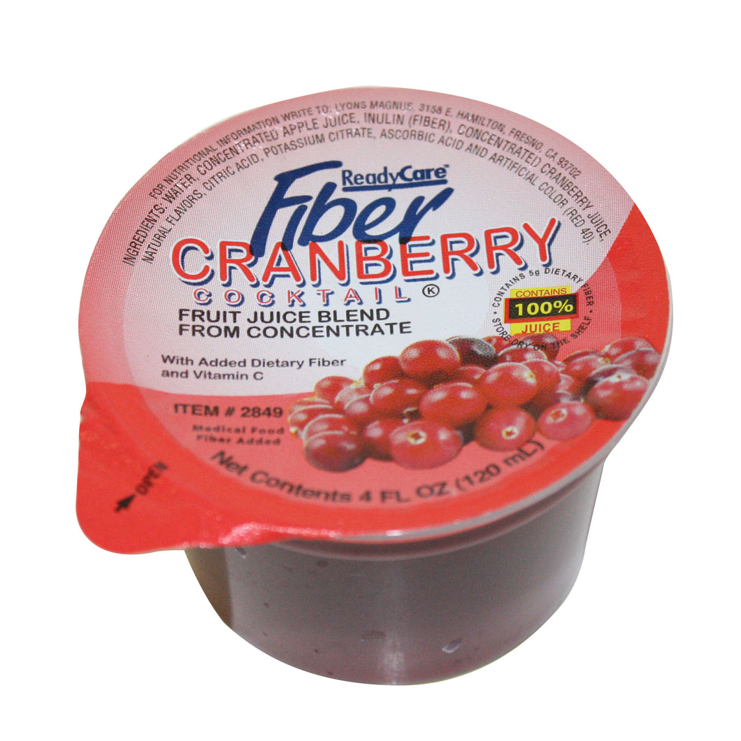 Cranberry cocktail with fiber 4 fl oz cup