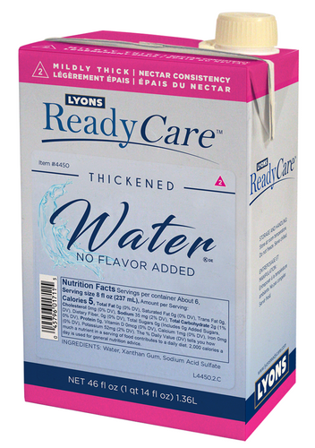 4451 Thickened Water No Flavor Added IDDSI level 2 - moderately thic0