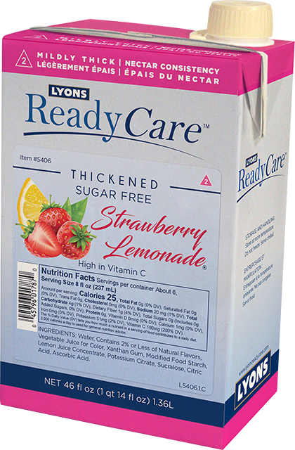 Thickened Strawberry Lemonade, Sugar Free – Nectar/Level 2