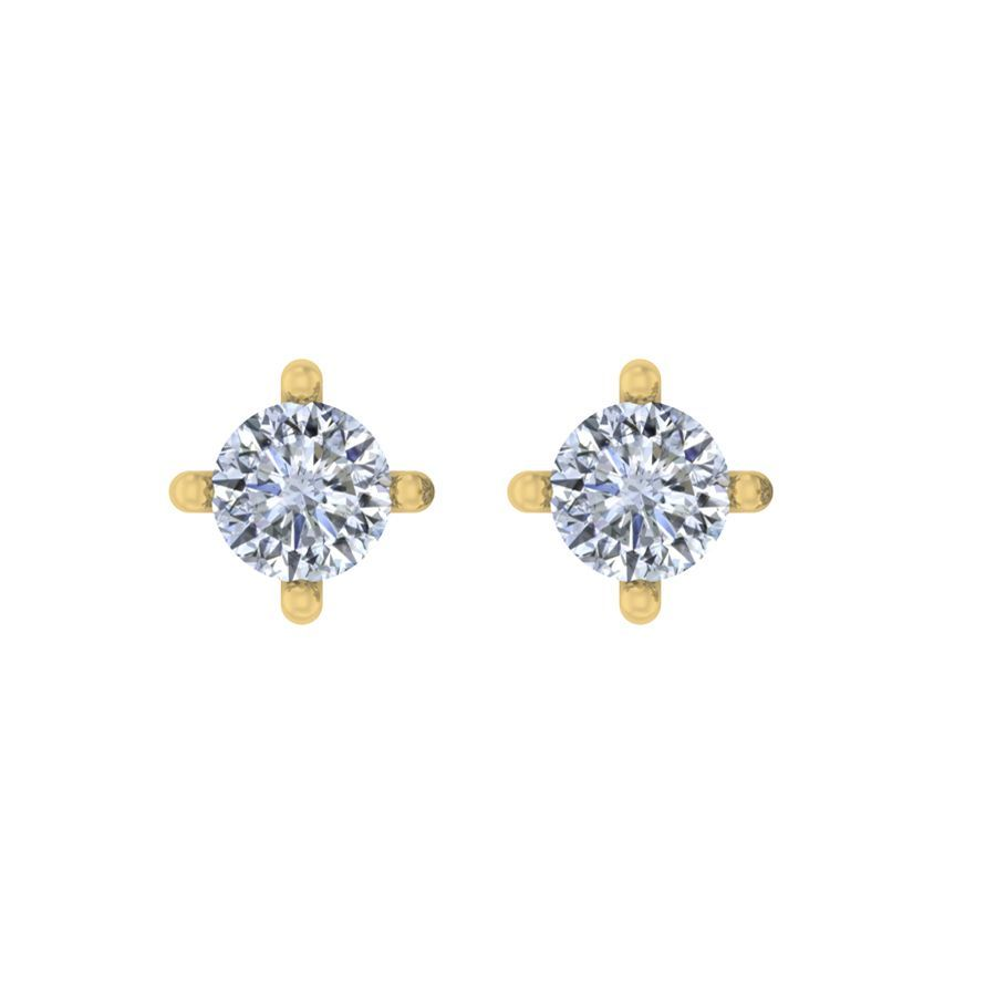 0.20 ct Classic Round Solitaire Studs