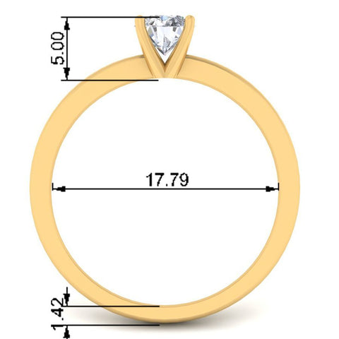 Image of 0.50 ct Classic Diamond Solitaire Ring