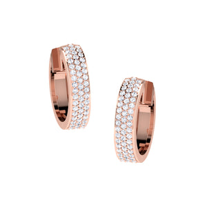 14 KT Rose Gold Hoops Huggies  in 13.26 gms