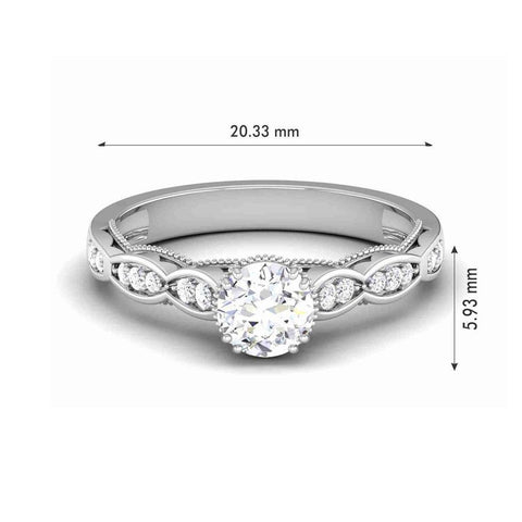 Image of Fashion Engagement Rings in White Gold