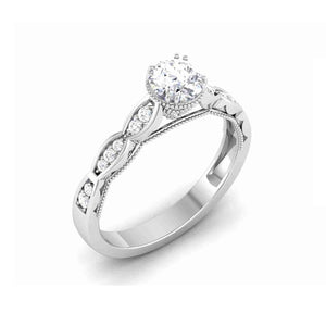 Fashion Engagement Rings in White Gold