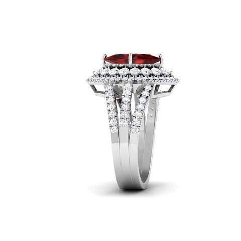 Image of Modish Casual Rings in White Gold