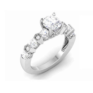 Neo Engagement Rings in White Gold