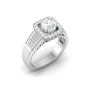 Modish Engagement Rings in White Gold