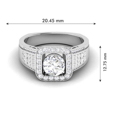 Image of Modish Engagement Rings in White Gold