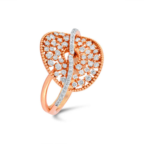 18 KT Rose gold Casual Rings in 7.08 gms