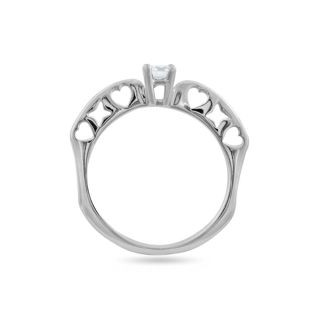 18 KT White Gold Casual Rings in 3.196 gms