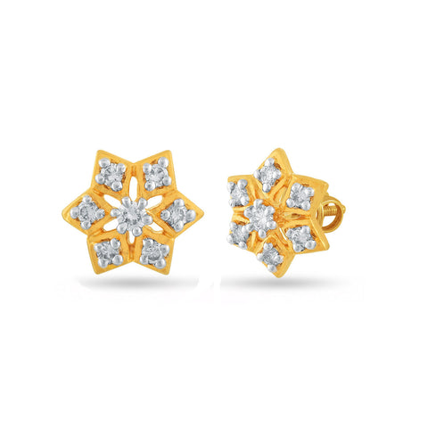 Image of 18 KT Yellow Gold Studs in 1.722 gms