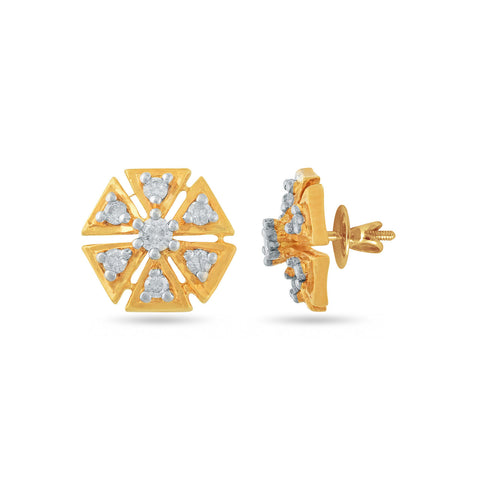 Image of 18 KT Yellow Gold Studs in 2.12 gms