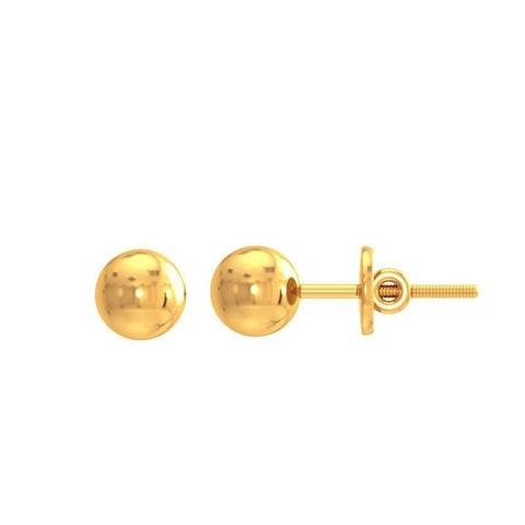 Image of 5mm Classic Gold Ball Studs