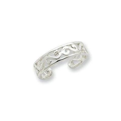 Image of 925 KT Silver Toe Ring in 3 gms