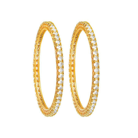 Yellow Solitaire Bangles