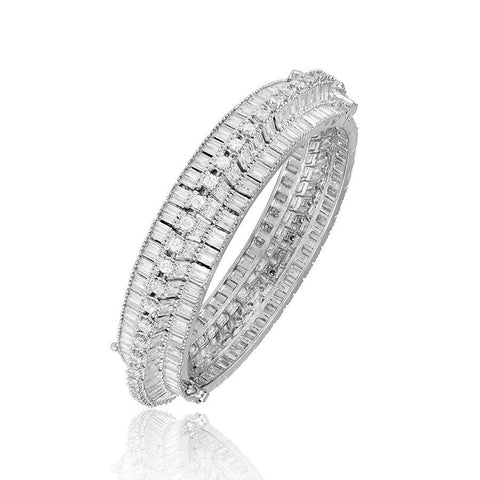 White Heavy Kada Bangle