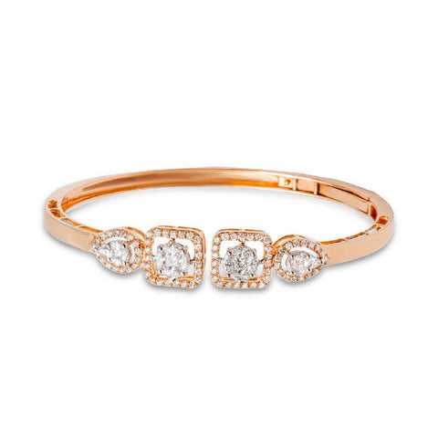18 KT Rose Gold Other Bangles and Kadas in 14.08 gms