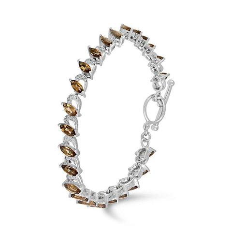 Image of Smokey Quartz and White Topaz Bracelet