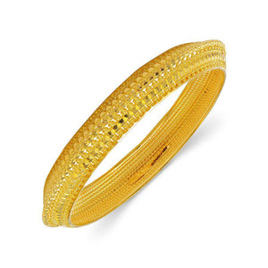 22 KT Yellow Gold Other Bangles and Kadas in 16.6 gms