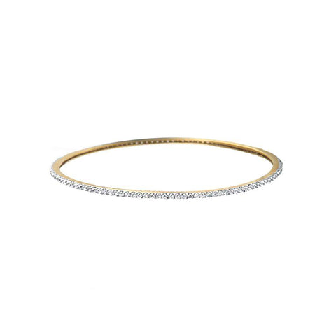 Classic Round Diamond Bangle