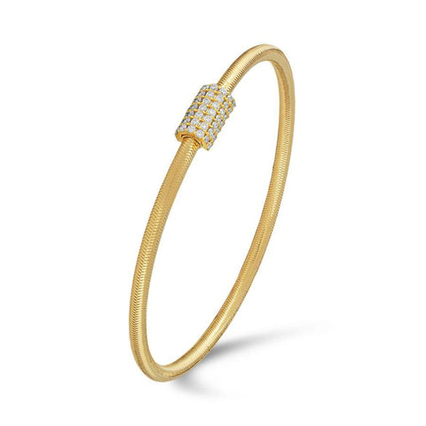 Classic Yellow Gold Stretchable Bangle