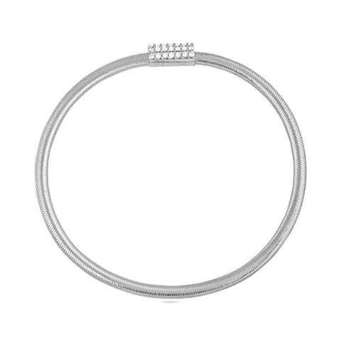 Classic Silver Stretchable Bangle