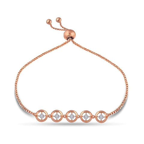 Image of 18 KT Rose Gold Charm Bracelets in 3 gms