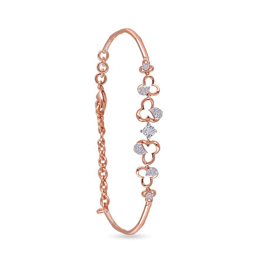 18 KT Rose Gold Charm Bracelets in 6.2 gms