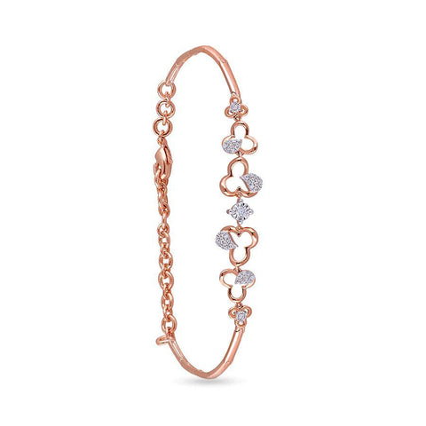 Image of 18 KT Rose Gold Charm Bracelets in 6.2 gms