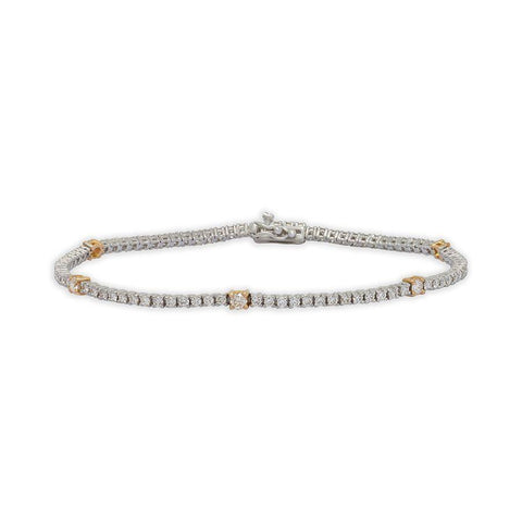 Image of 18 KT White Gold Tennis Bracelets in 6.12 gms