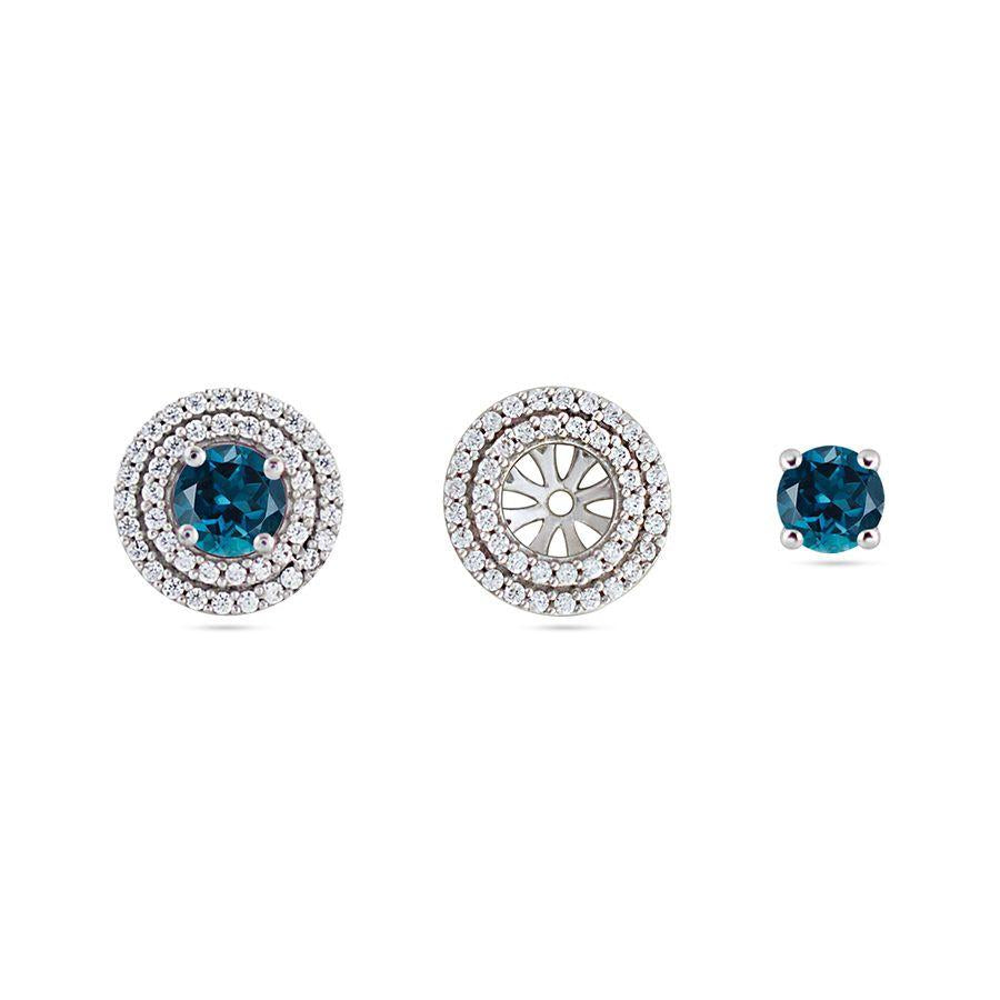 Silver and Spinel Neo Studs and Tops