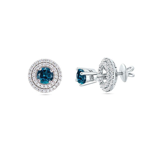 Image of Silver and Spinel Neo Studs and Tops