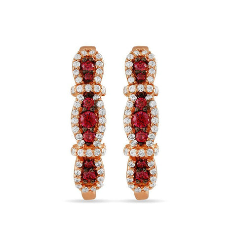 Image of 3-Level Red Earrings