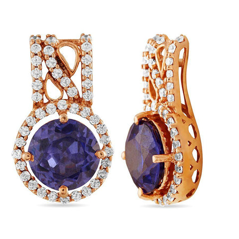 Image of Drop Admiral Blue Stone Earrings