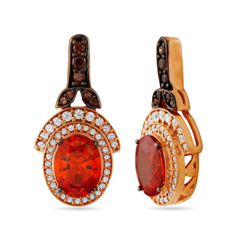 The Red-Oval Earrings